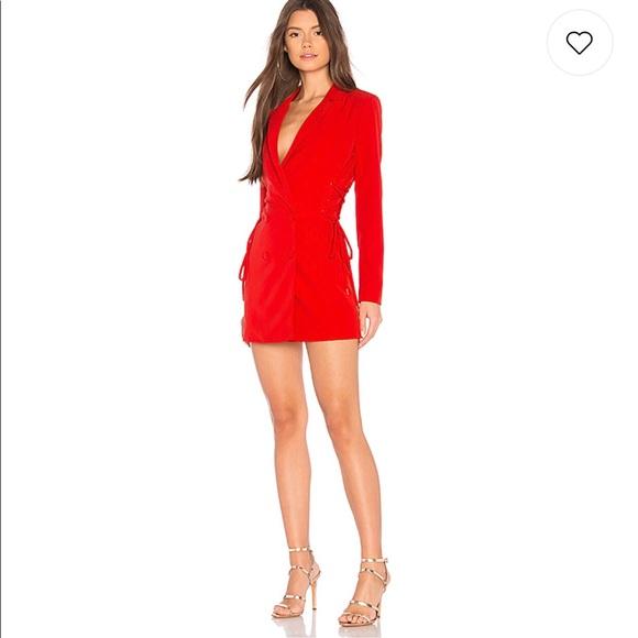 001d7b419a6 NBD Revolve Red Tuxedo Dress. M 5b38e0a1aa8770f491161056